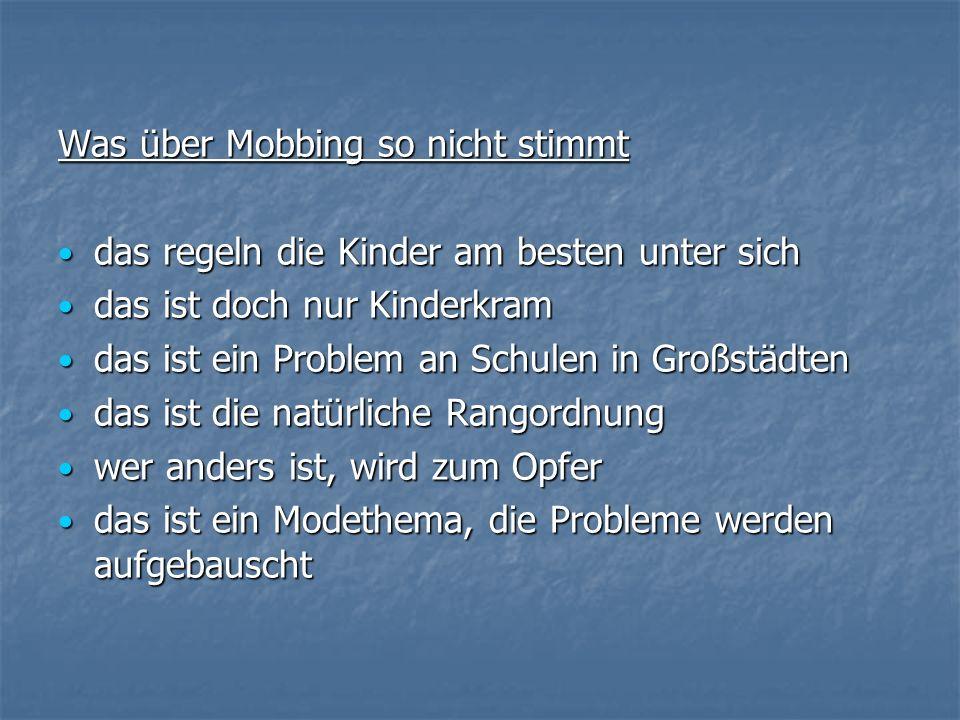 Was über Mobbing so nicht stimmt