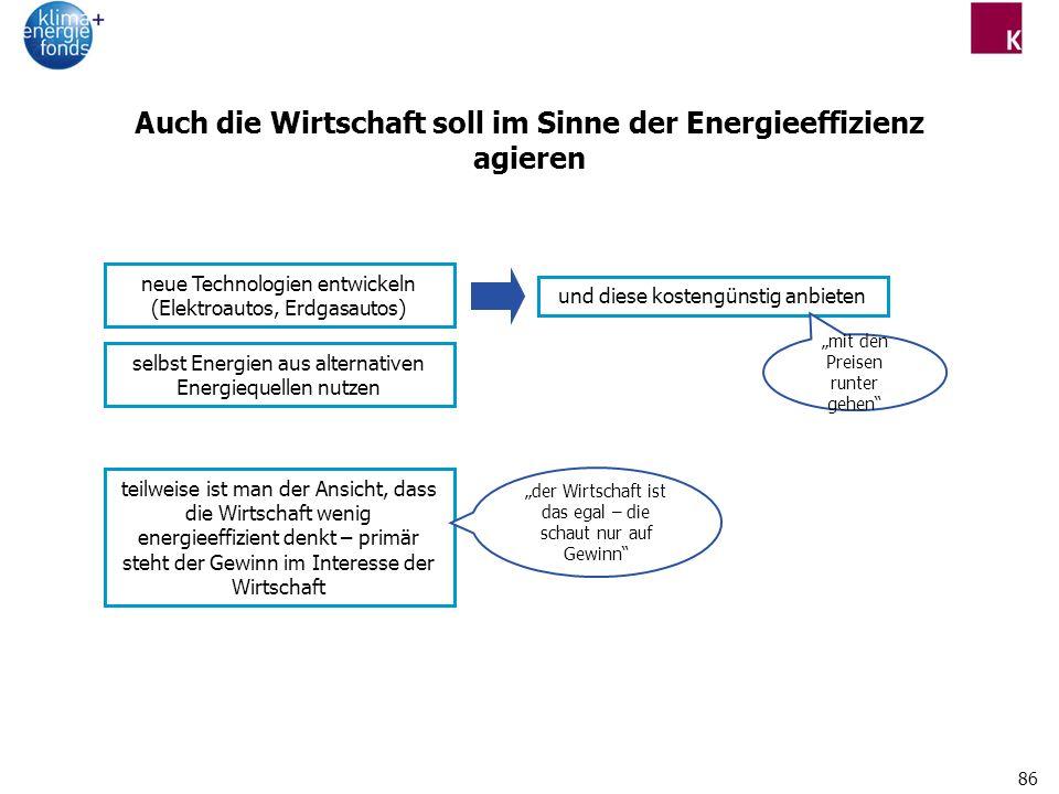 Auch die Wirtschaft soll im Sinne der Energieeffizienz agieren