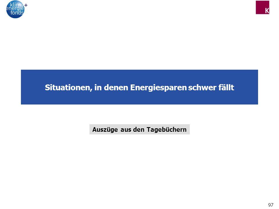 Situationen, in denen Energiesparen schwer fällt