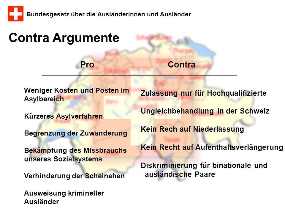 Contra Argumente Pro Contra Zulassung nur für Hochqualifizierte