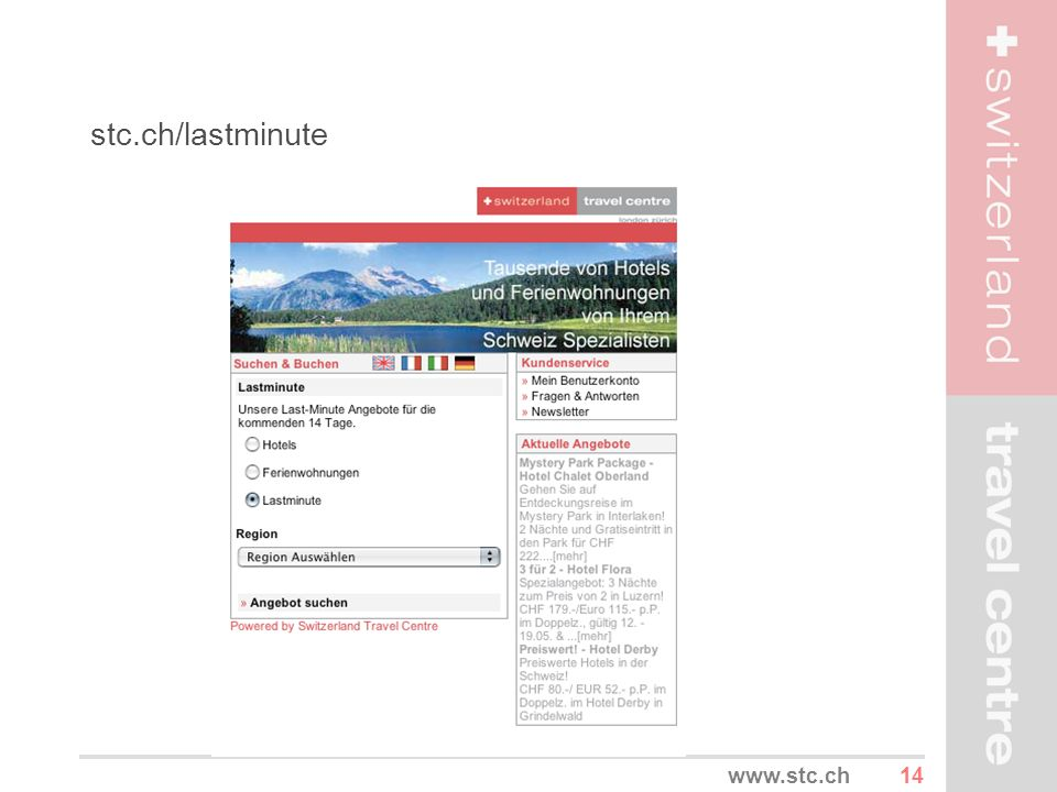 stc.ch/lastminute www.stc.ch