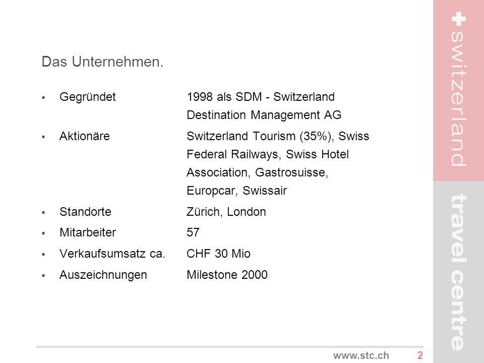 Das Unternehmen. Gegründet 1998 als SDM - Switzerland Destination Management AG.