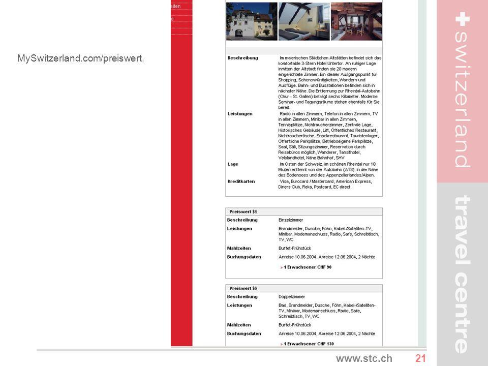 MySwitzerland.com/preiswert.