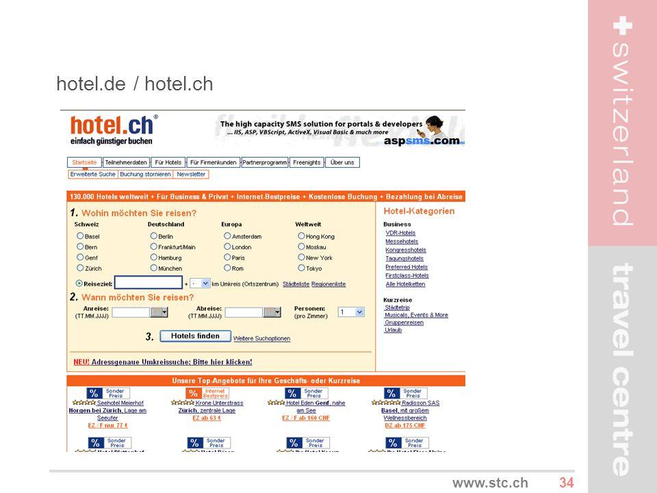 hotel.de / hotel.ch www.stc.ch