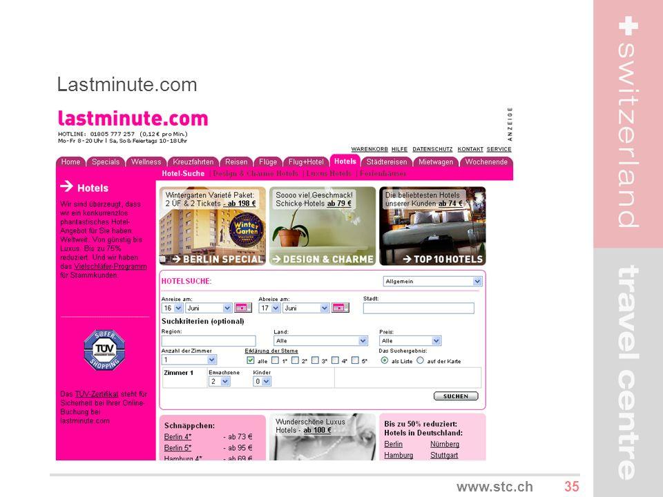 Lastminute.com www.stc.ch