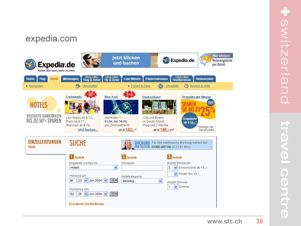 expedia.com www.stc.ch