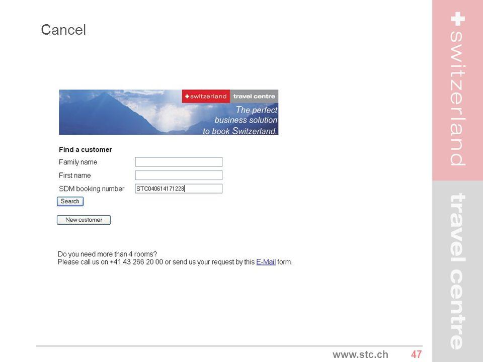 Cancel www.stc.ch