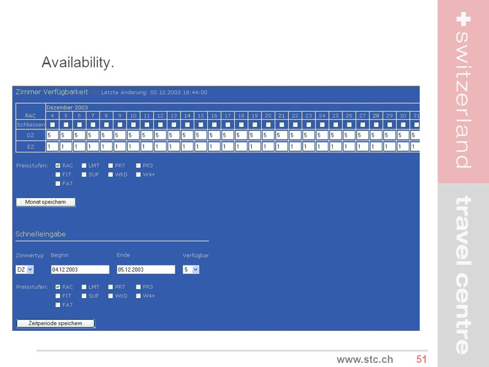 Availability. www.stc.ch