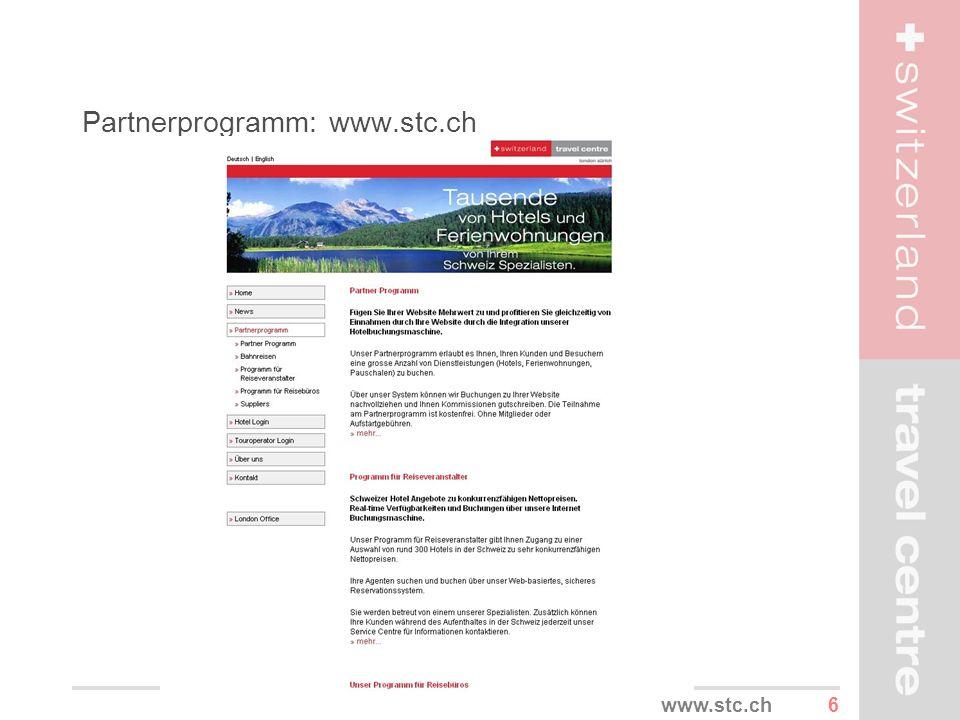Partnerprogramm: www.stc.ch