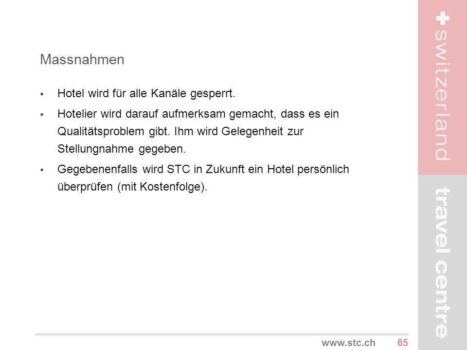 Massnahmen Hotel wird für alle Kanäle gesperrt.