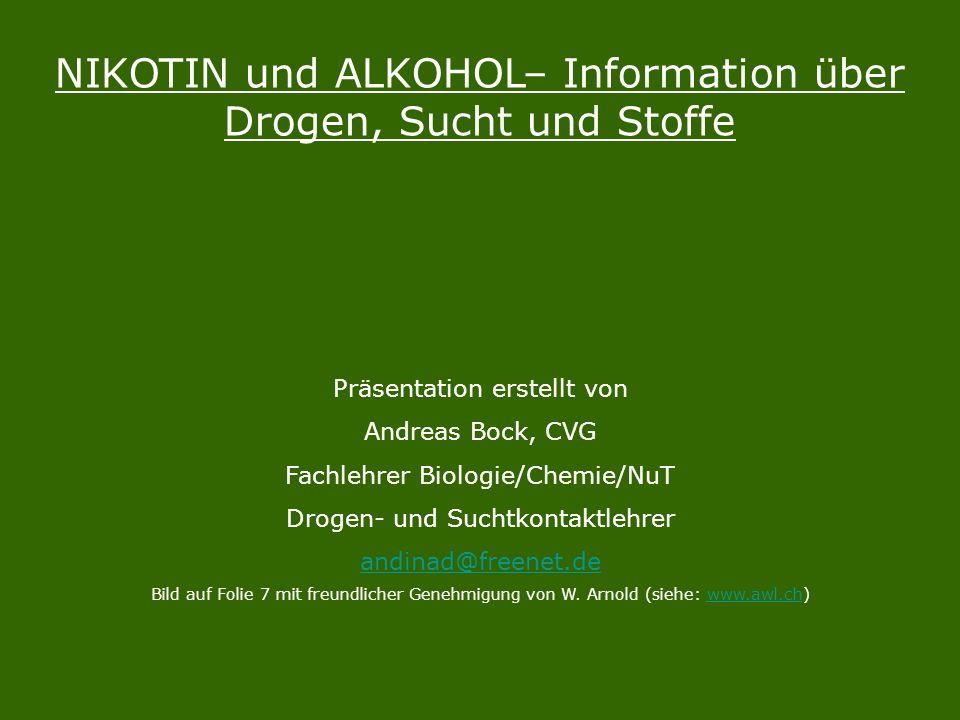 NIKOTIN und ALKOHOL– Information über Drogen, Sucht und Stoffe