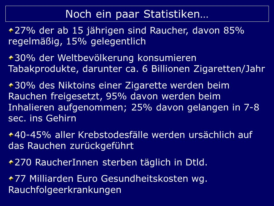 Noch ein paar Statistiken…