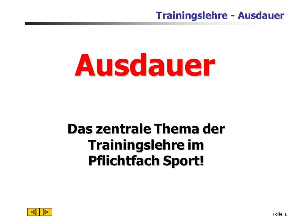 Das zentrale Thema der Trainingslehre im Pflichtfach Sport!