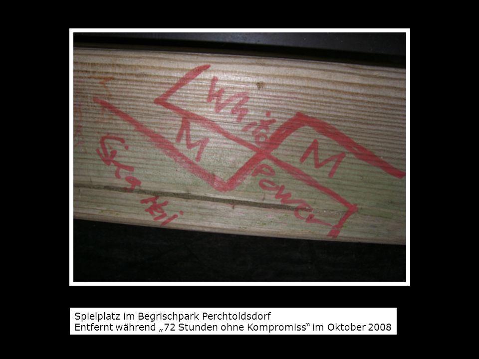 """Spielplatz im Begrischpark Perchtoldsdorf Entfernt während """"72 Stunden ohne Kompromiss im Oktober 2008"""