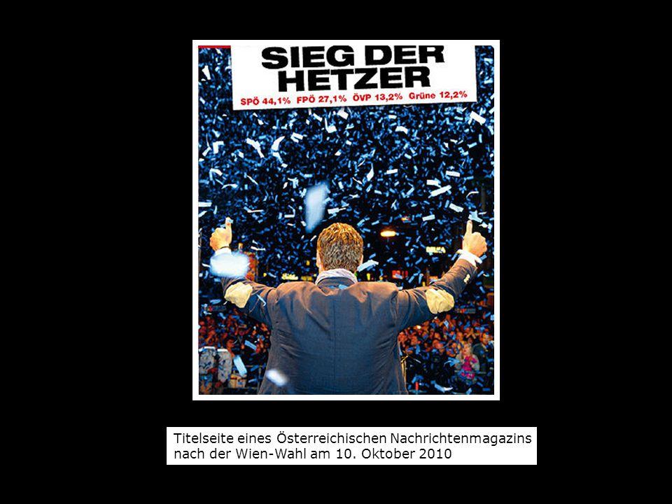 Titelseite eines Österreichischen Nachrichtenmagazins nach der Wien-Wahl am 10. Oktober 2010