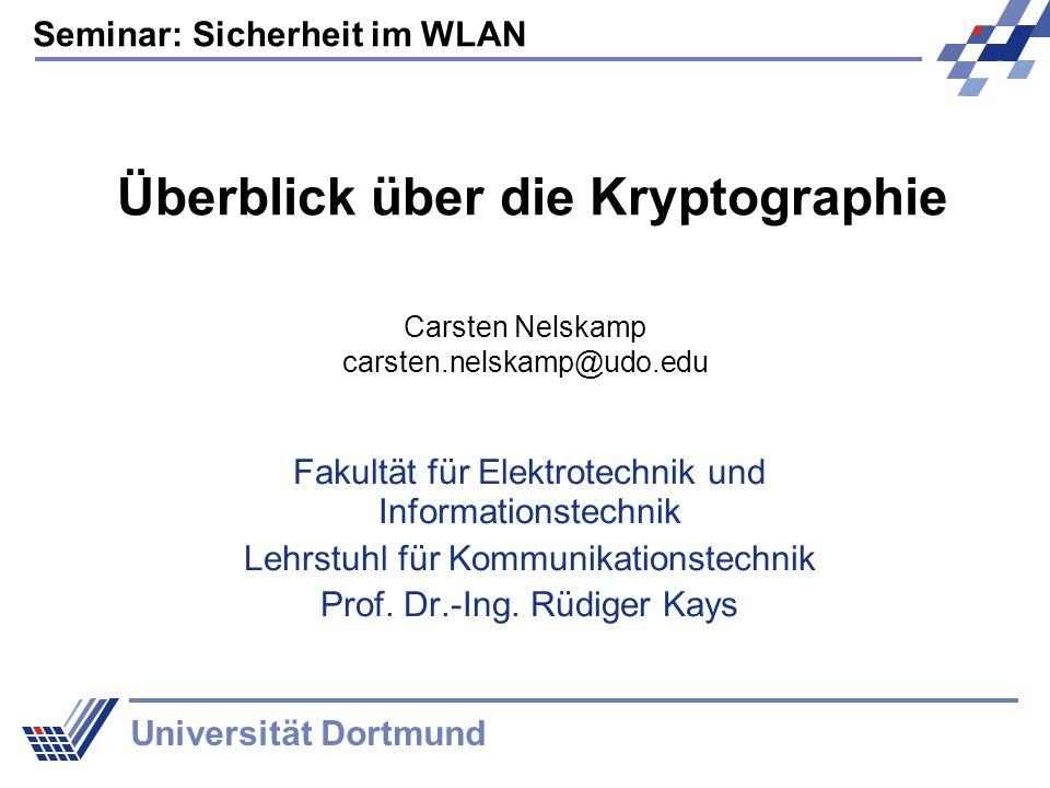 Überblick über die Kryptographie