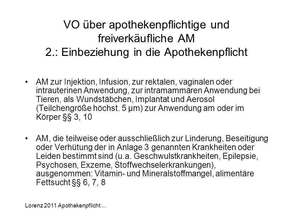 VO über apothekenpflichtige und freiverkäufliche AM 2