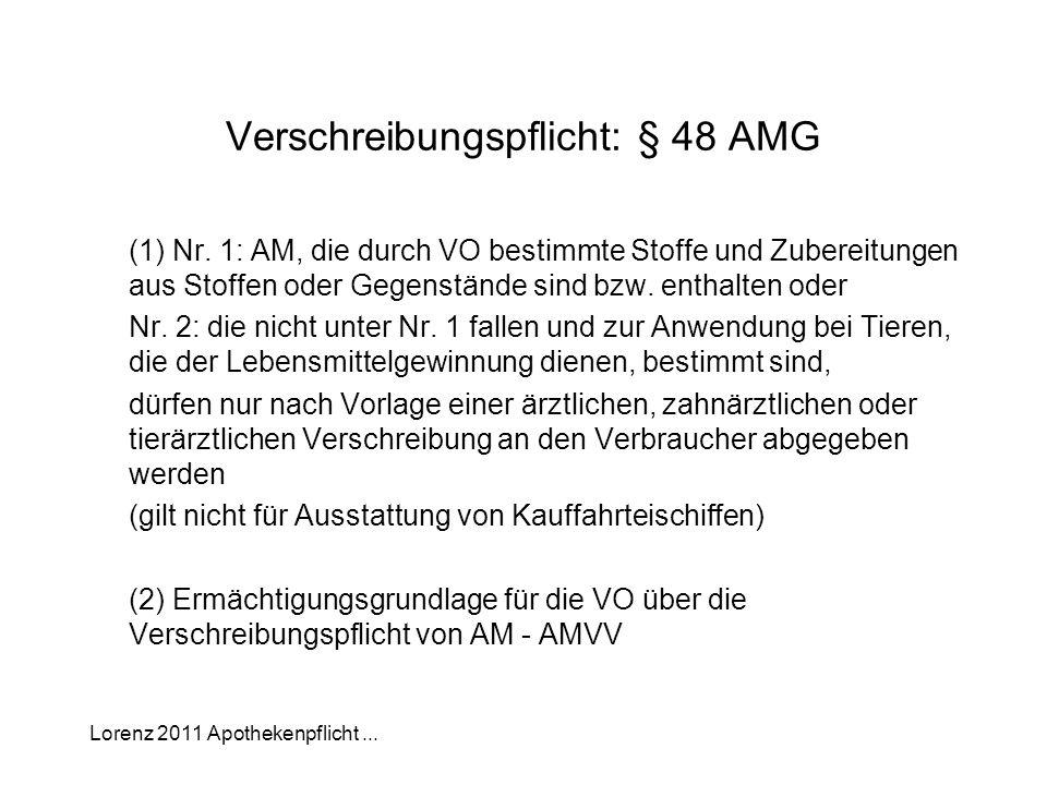 Verschreibungspflicht: § 48 AMG