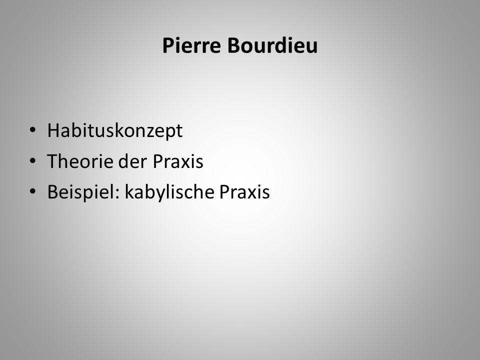 Pierre Bourdieu Habituskonzept Theorie der Praxis