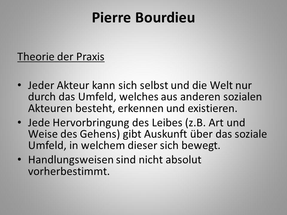 Pierre Bourdieu Theorie der Praxis