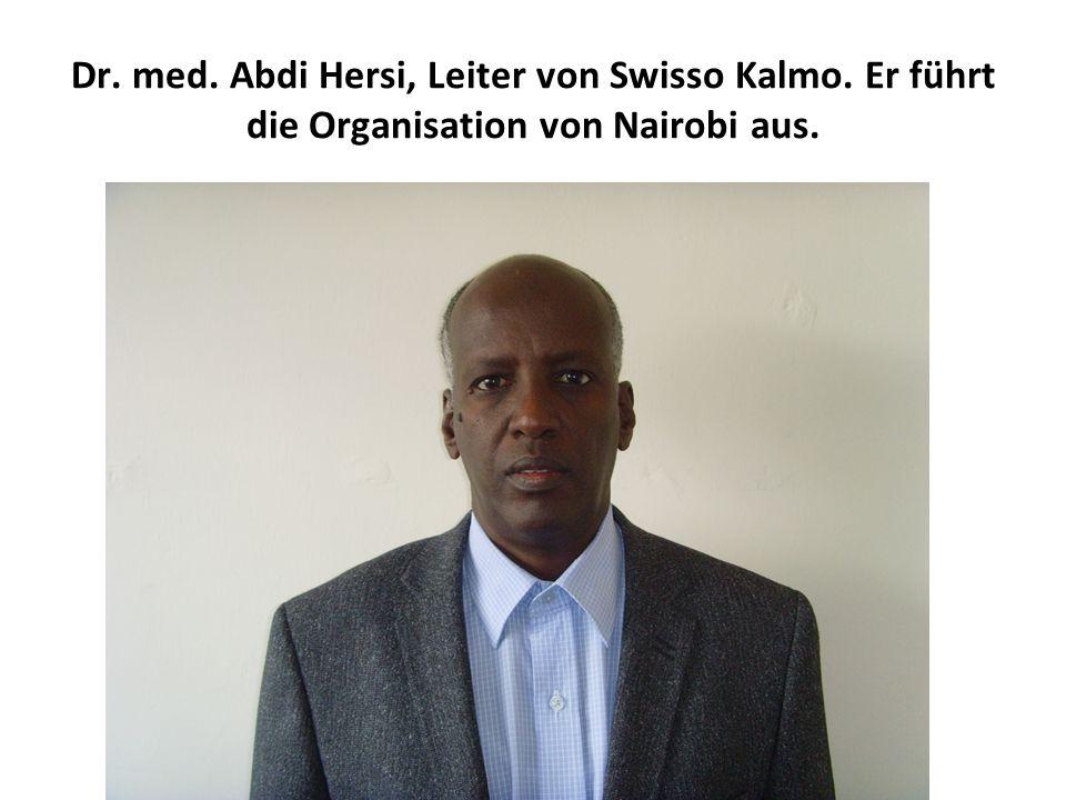 Dr. med. Abdi Hersi, Leiter von Swisso Kalmo