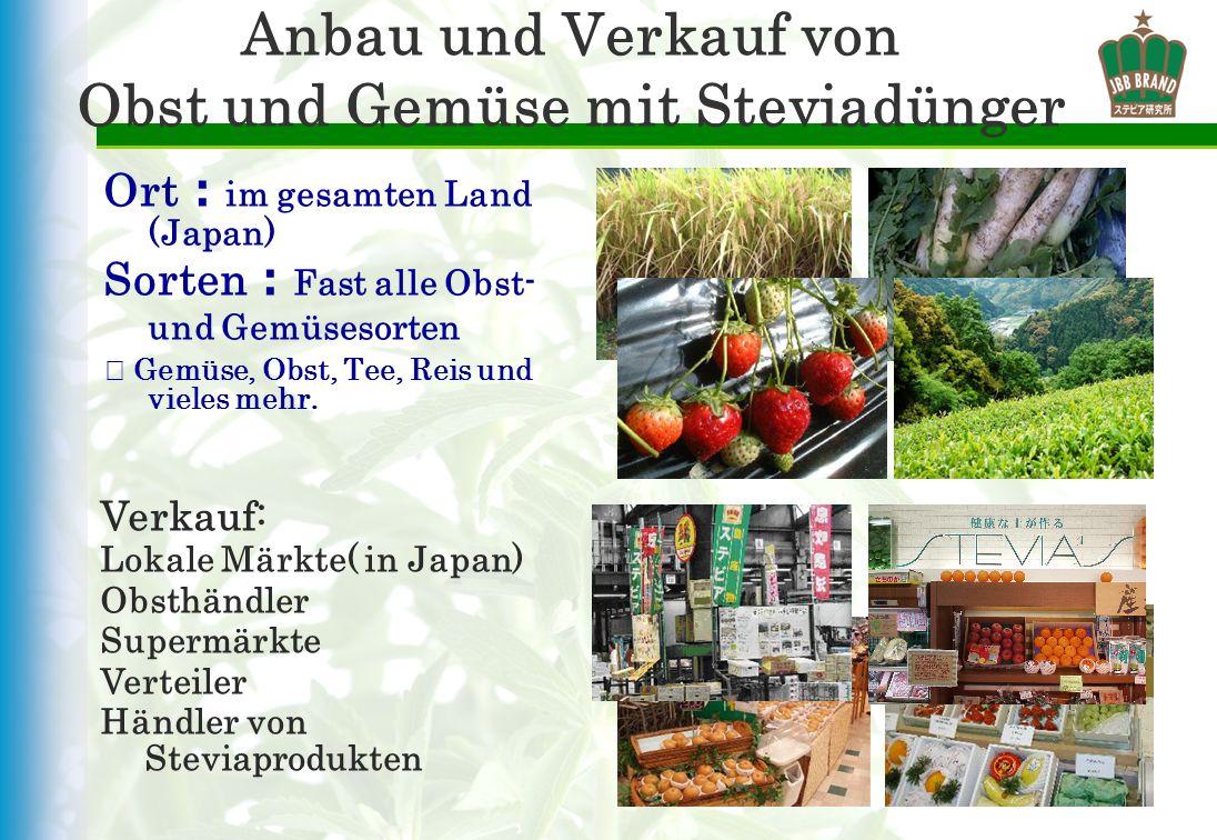 Anbau und Verkauf von Obst und Gemüse mit Steviadünger