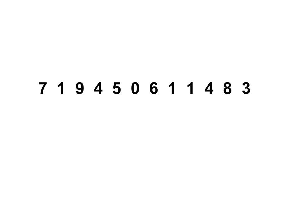 7 1 9 4 5 0 6 1 1 4 8 3