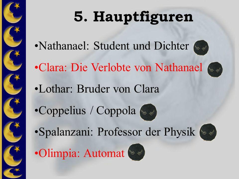 5. Hauptfiguren Nathanael: Student und Dichter