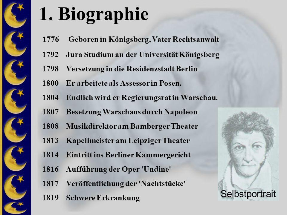 1. Biographie 1776 Geboren in Königsberg, Vater Rechtsanwalt