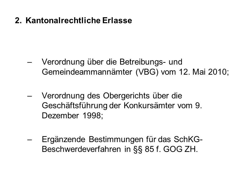 2. Kantonalrechtliche Erlasse