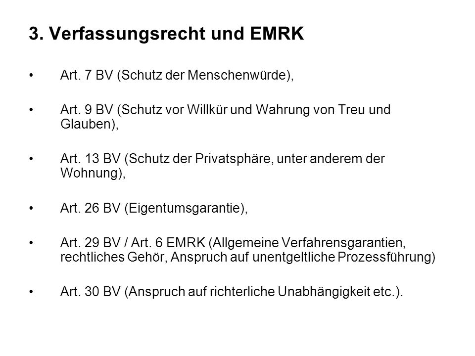 3. Verfassungsrecht und EMRK