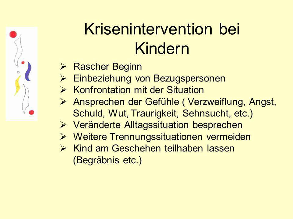 Krisenintervention bei Kindern