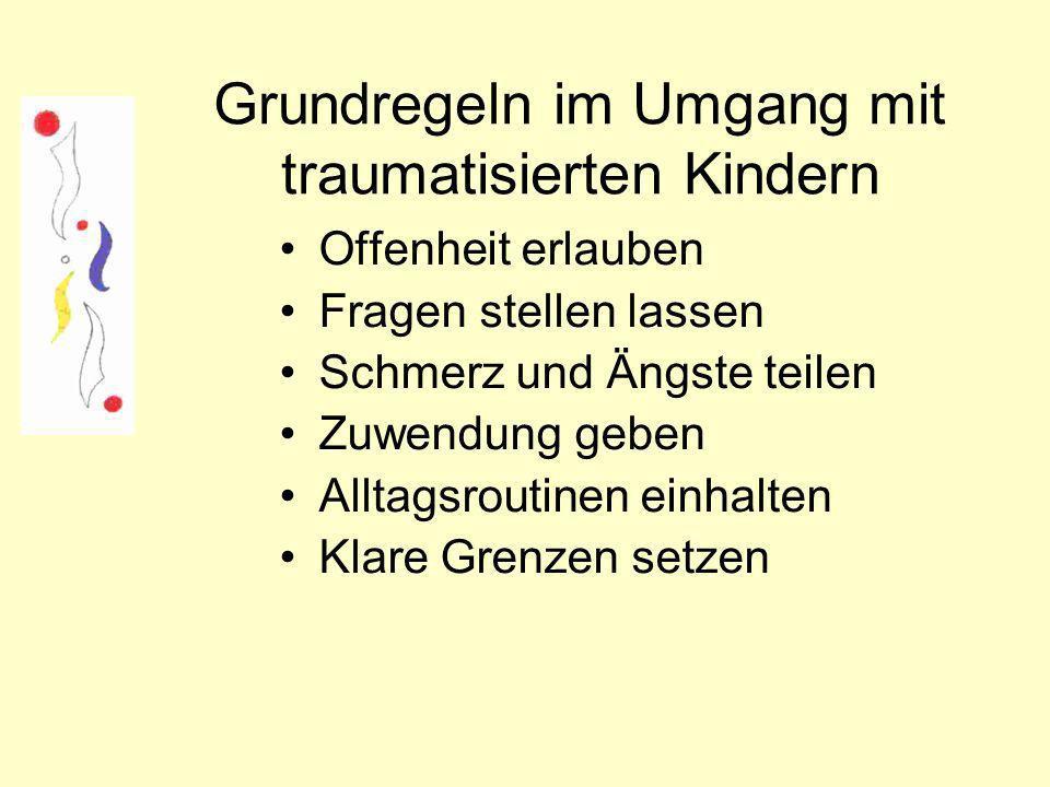 Grundregeln im Umgang mit traumatisierten Kindern