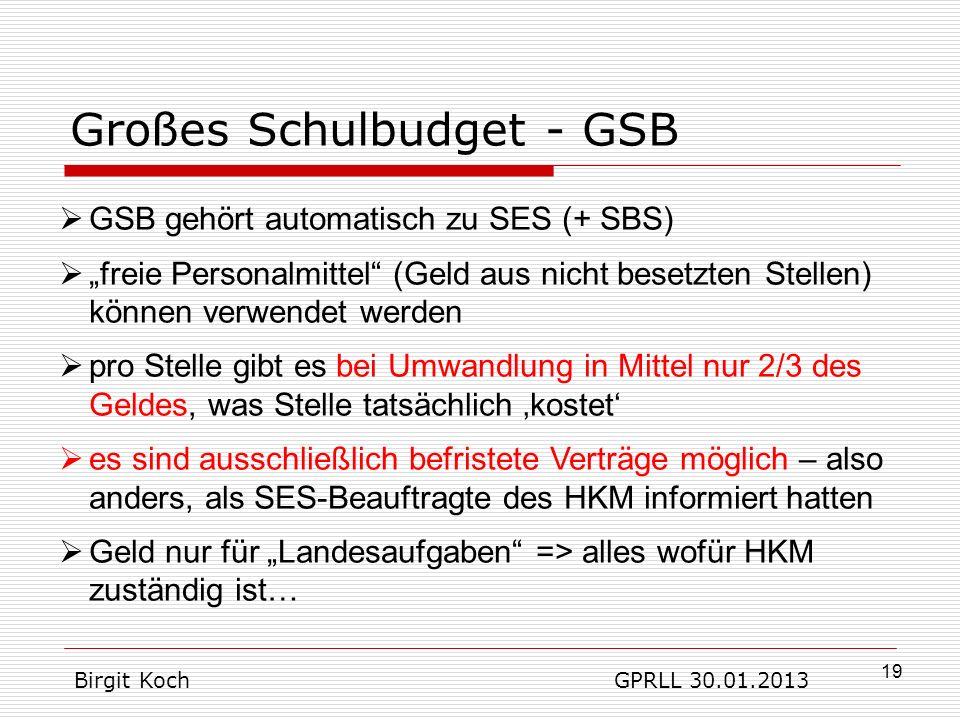 Großes Schulbudget - GSB