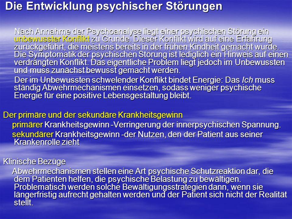 Die Entwicklung psychischer Störungen