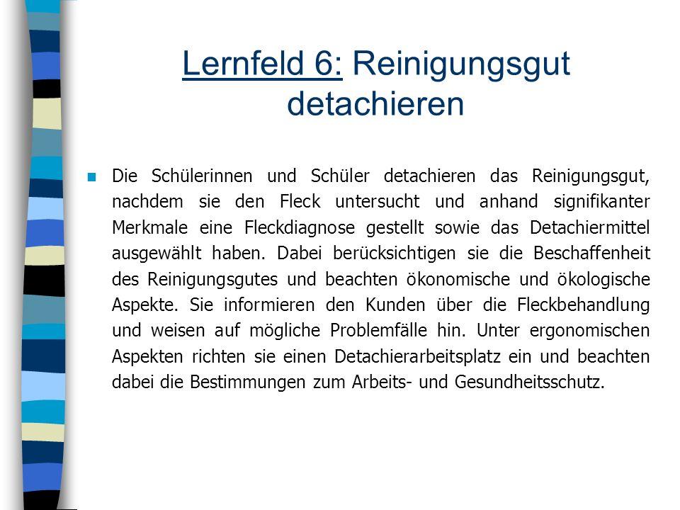 Lernfeld 6: Reinigungsgut detachieren