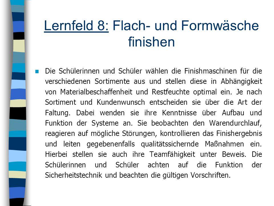 Lernfeld 8: Flach- und Formwäsche finishen