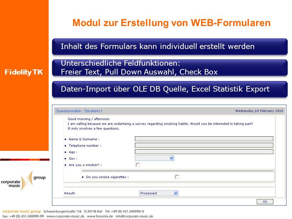 Modul zur Erstellung von WEB-Formularen