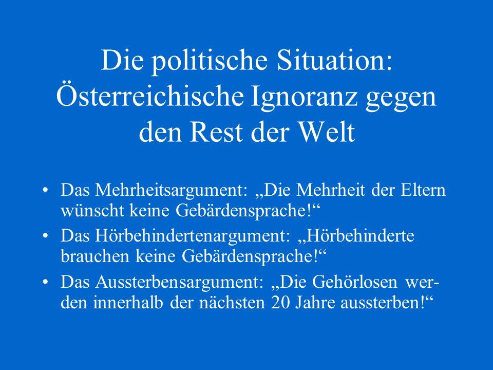 Die politische Situation: Österreichische Ignoranz gegen den Rest der Welt