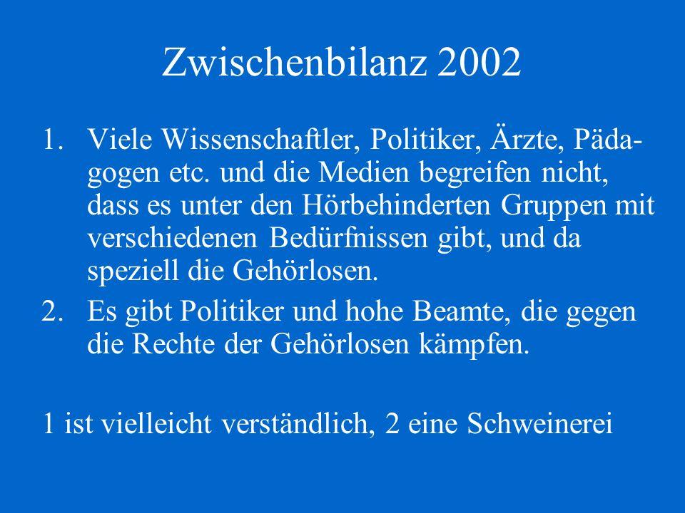 Zwischenbilanz 2002