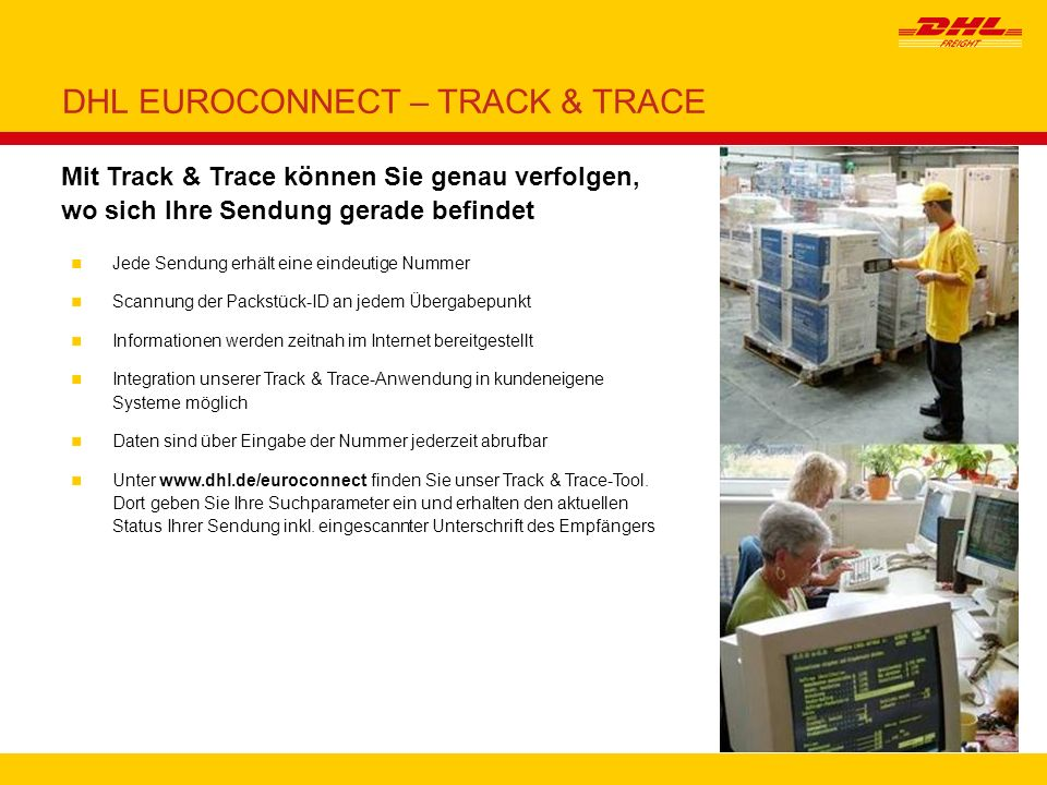 DHL EUROCONNECT – TRACK & TRACE