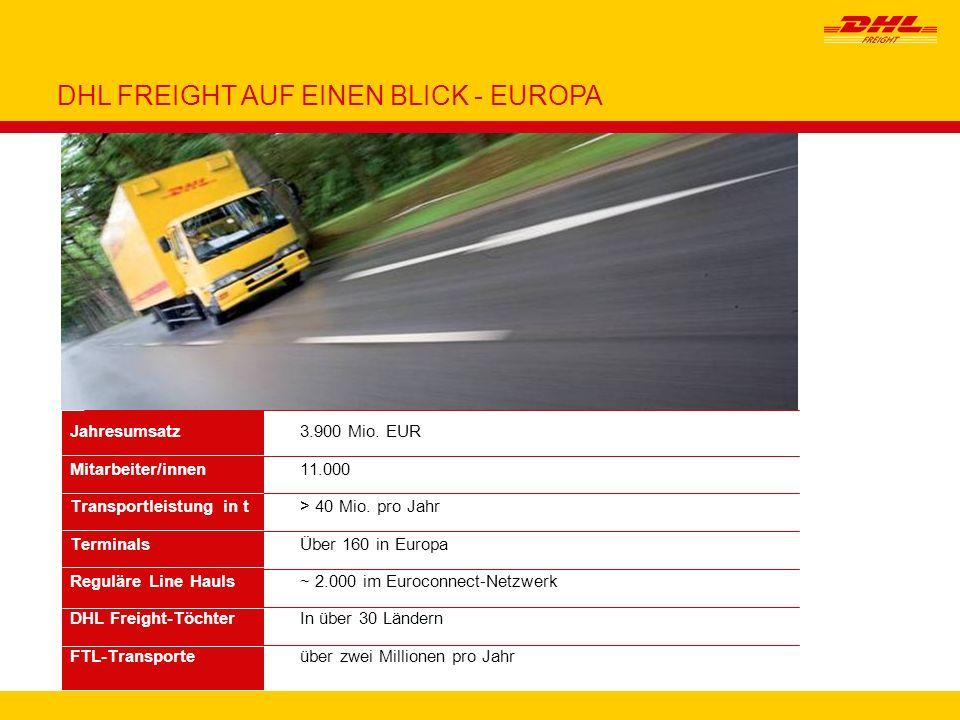 DHL FREIGHT AUF EINEN BLICK - EUROPA