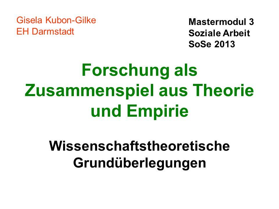 Gisela Kubon-Gilke EH Darmstadt. Mastermodul 3. Soziale Arbeit. SoSe 2013.