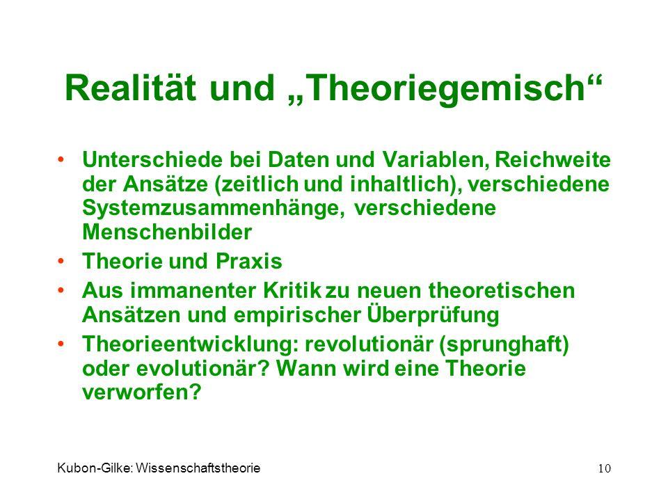 """Realität und """"Theoriegemisch"""