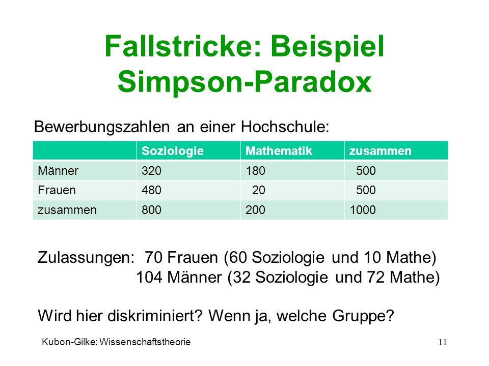 Fallstricke: Beispiel Simpson-Paradox