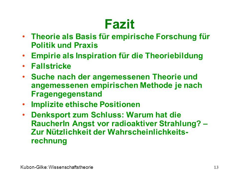 Fazit Theorie als Basis für empirische Forschung für Politik und Praxis. Empirie als Inspiration für die Theoriebildung.