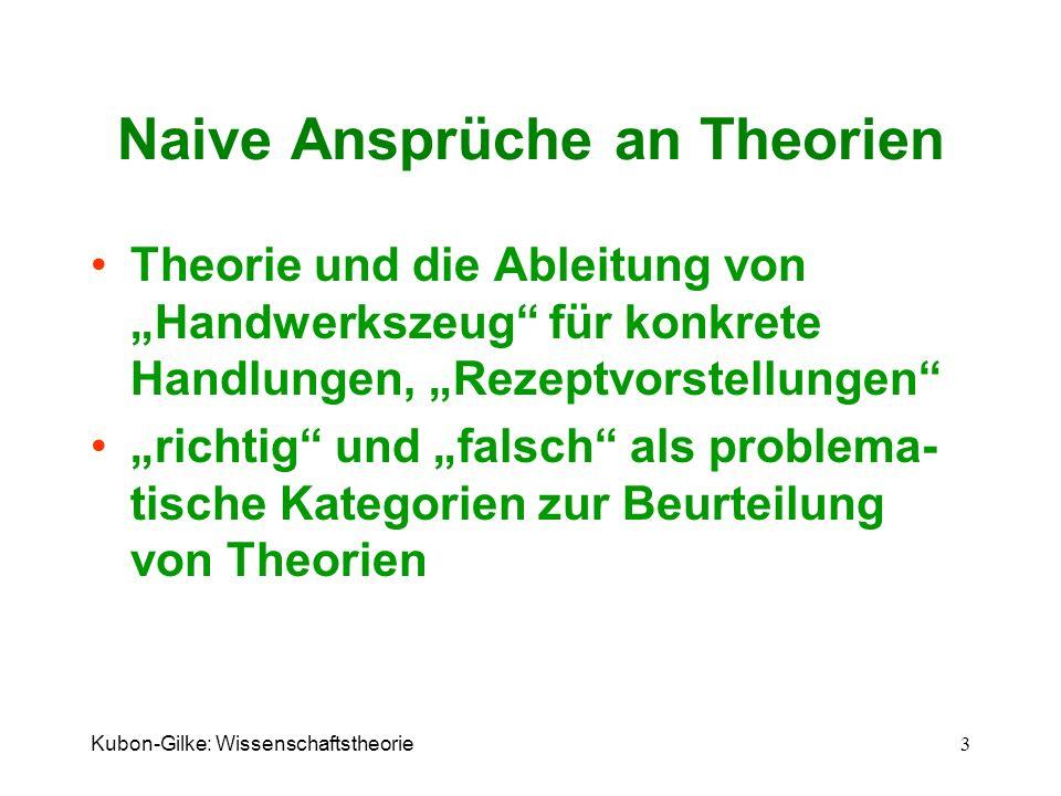 Naive Ansprüche an Theorien