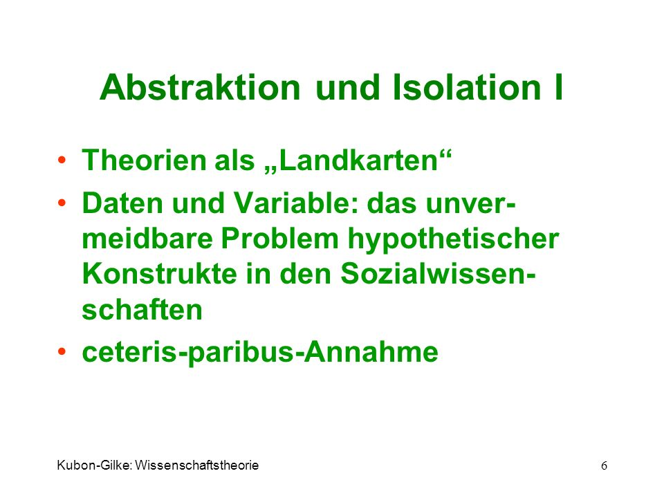 Abstraktion und Isolation I