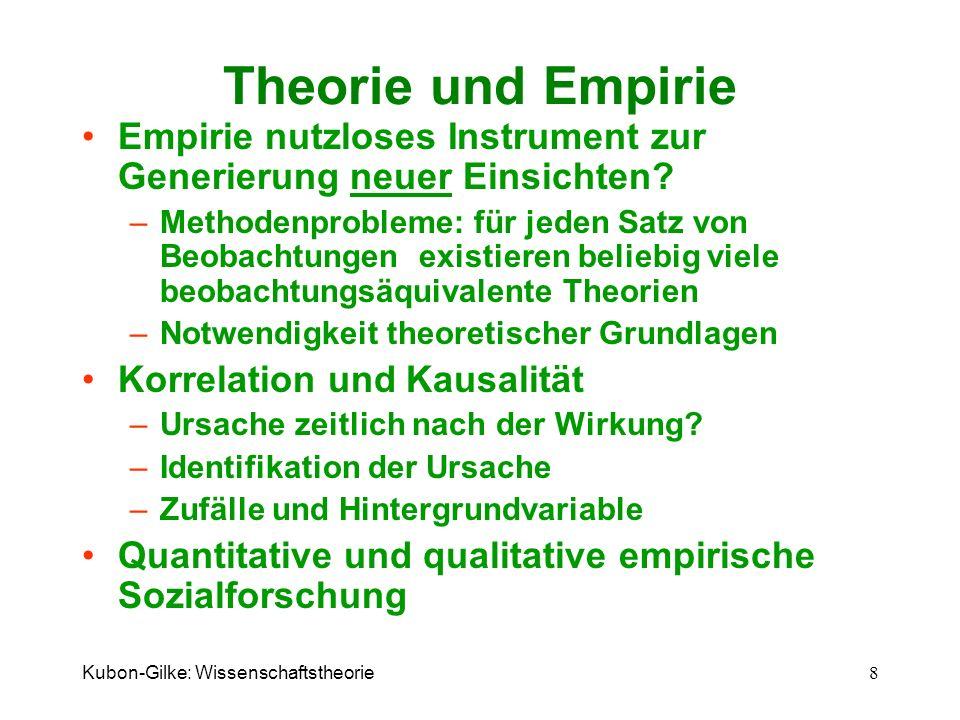 Theorie und Empirie Empirie nutzloses Instrument zur Generierung neuer Einsichten
