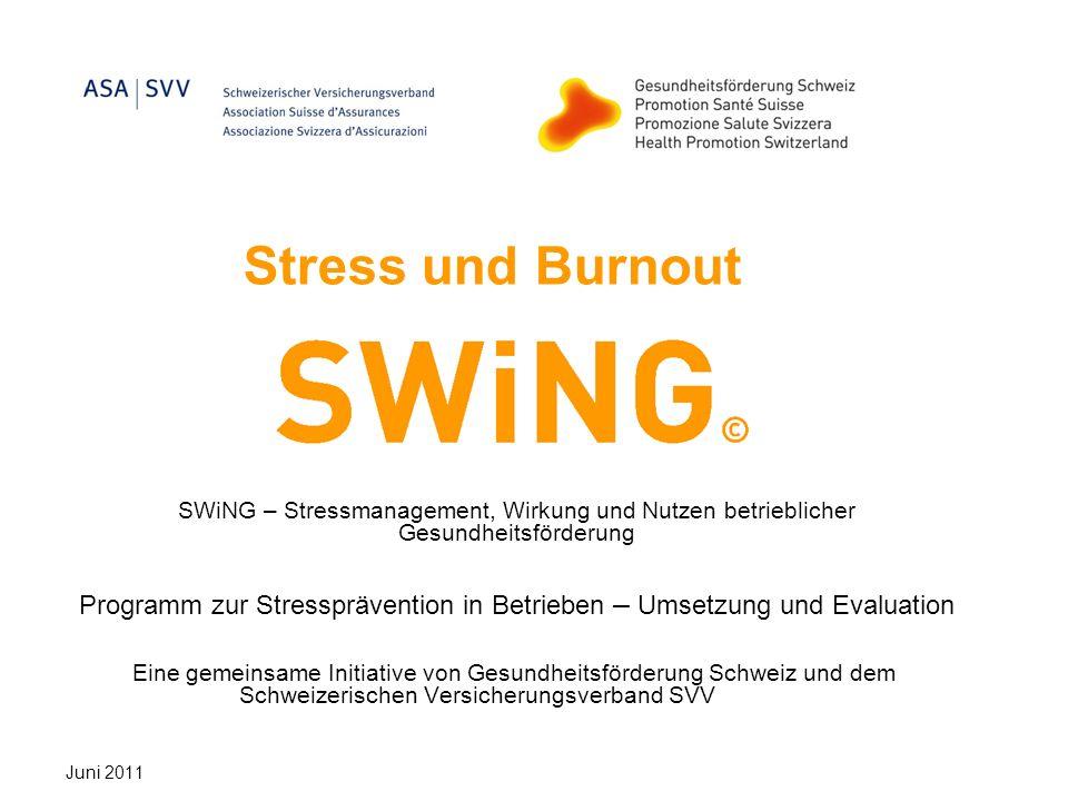 Programm zur Stressprävention in Betrieben – Umsetzung und Evaluation